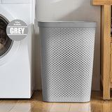 HOUZE - 60L Polka Dots Tall Laundry Basket (Grey) - HOUZE - The Homeware Superstore