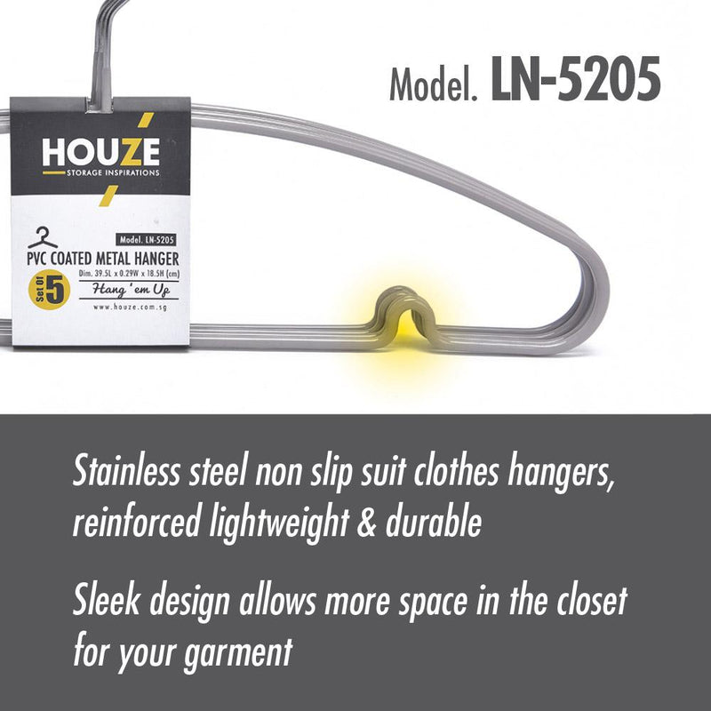 [15PCS] HOUZE PVC Coated Metal Hanger - Bottega White - HOUZE - The Homeware Superstore