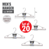 [20PCS] HOUZE Men's Hanger - Bottega White - HOUZE - The Homeware Superstore