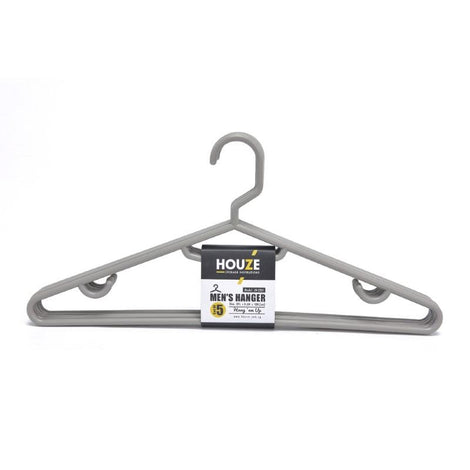 HOUZE - Men's Hanger (Set of 5) (Grey) - HOUZE - The Homeware Superstore