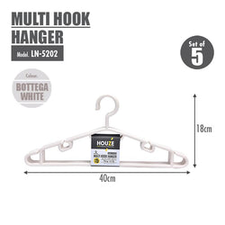 HOUZE - Multi Hook Hanger (Set of 5) (Bottega White) - HOUZE - The Homeware Superstore