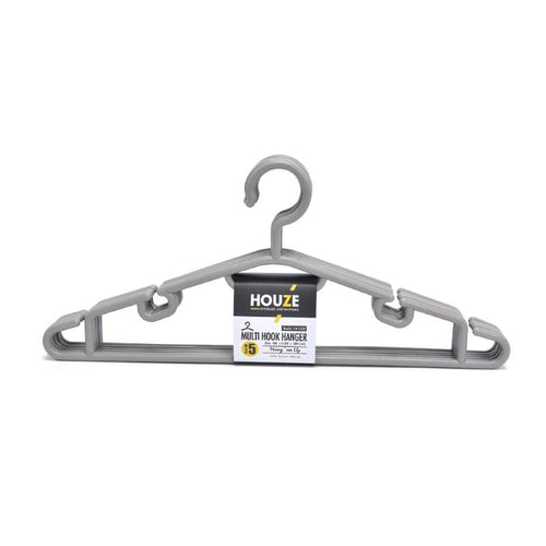 HOUZE - Multi Hook Hanger (Set of 5) (Grey) - HOUZE - The Homeware Superstore