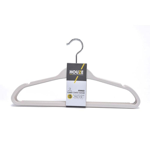 HOUZE - Rubber Coated ABS Hanger (Set of 5) (Bottega White) - HOUZE - The Homeware Superstore