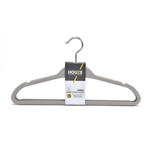 HOUZE - Rubber Coated ABS Hanger (Set of 5) (Grey) - HOUZE - The Homeware Superstore
