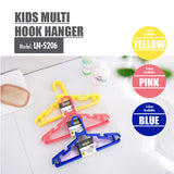 [20PCS] HOUZE Kids Multi Hook Hanger - Yellow - HOUZE - The Homeware Superstore