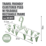 Travel Friendly Clustered Pegs with Foldable Rectangle Frame (12 Pegs) - HOUZE - The Homeware Superstore