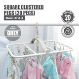 HOUZE - Square Clustered Pegs (20 Pegs) - HOUZE - The Homeware Superstore