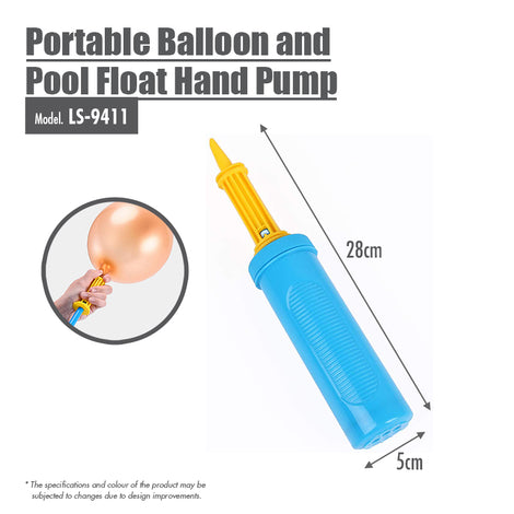 Portable Balloon and Pool Float Hand Pump - HOUZE - The Homeware Superstore
