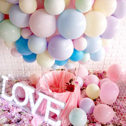 Balloons (Set of 10) - Pink & White - HOUZE - The Homeware Superstore