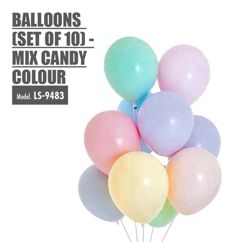 Balloons (Set of 10) - Mix Candy Colour