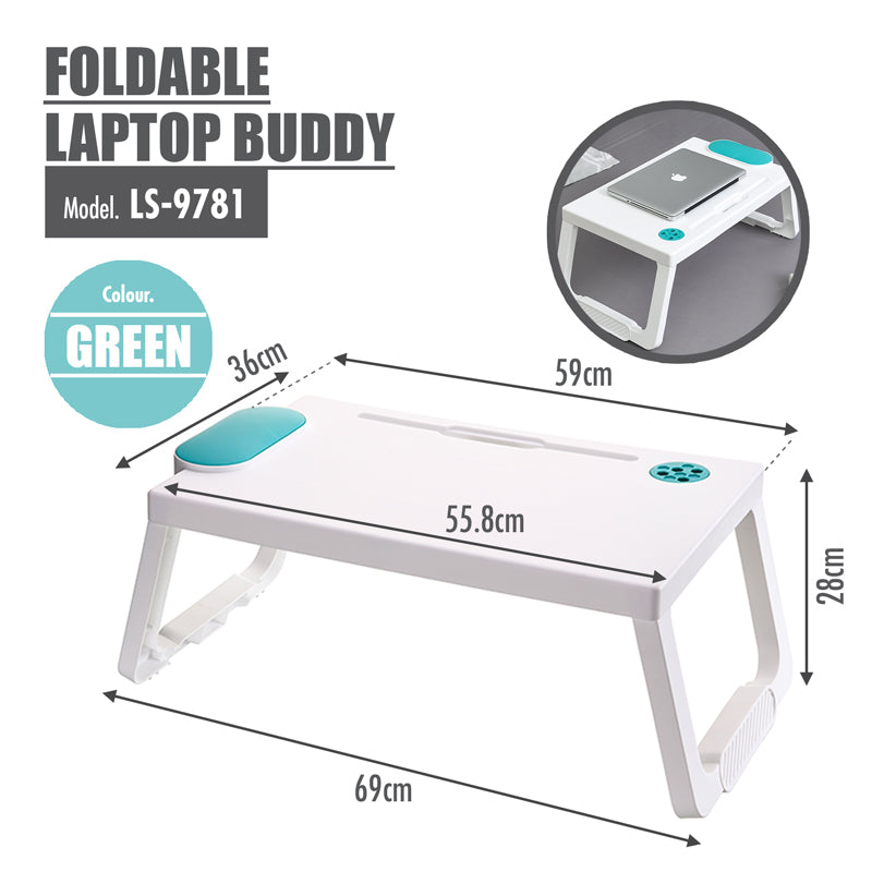Foldable Laptop Buddy (Green) - HOUZE - The Homeware Superstore