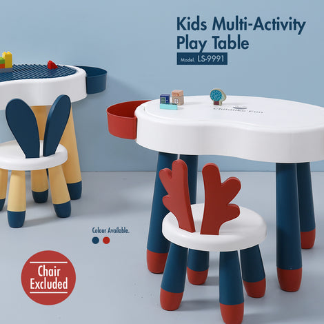 Kids Multi-Activity Play Table (Red) - HOUZE - The Homeware Superstore
