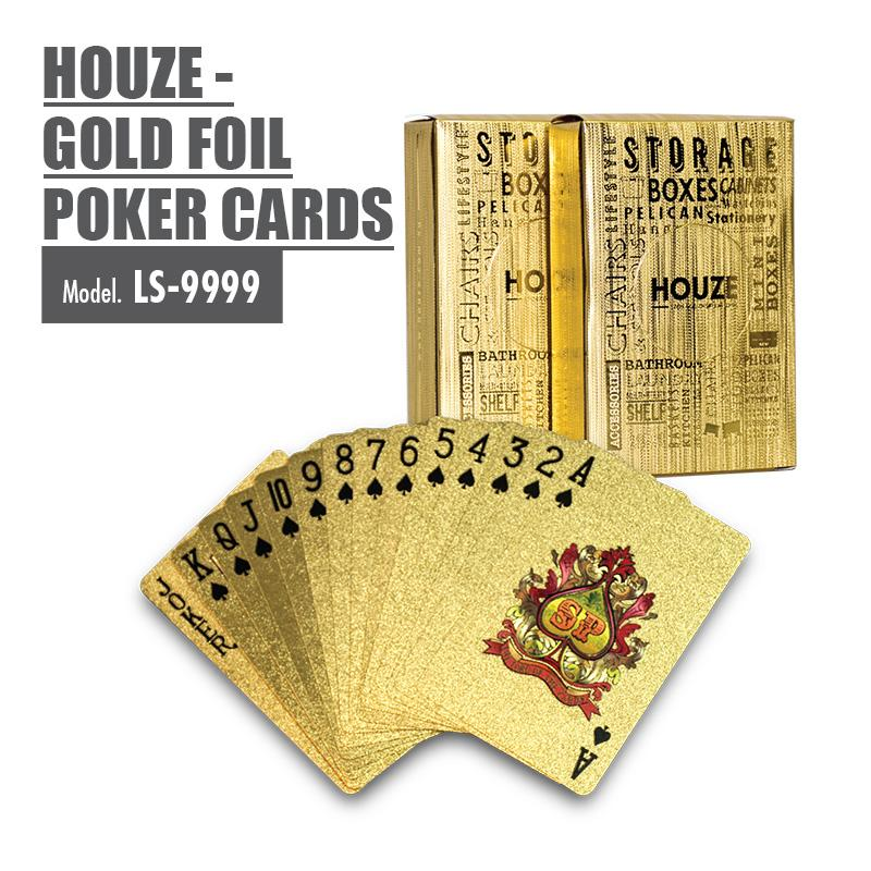 HOUZE - Gold Foil Poker Cards