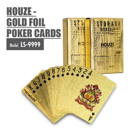 HOUZE - Gold Foil Poker Cards - HOUZE - The Homeware Superstore
