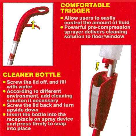 LIAO - 2 IN 1 Spray Mop & Window Cleaner Set - HOUZE - The Homeware Superstore