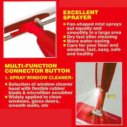 LIAO - 2 IN 1 Spray Mop & Window Cleaner Set
