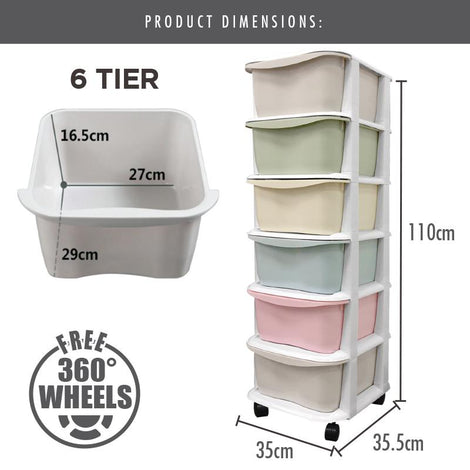 LIFE - 6 Tier 'Apple' Knock Down Cabinet (Macaroon)