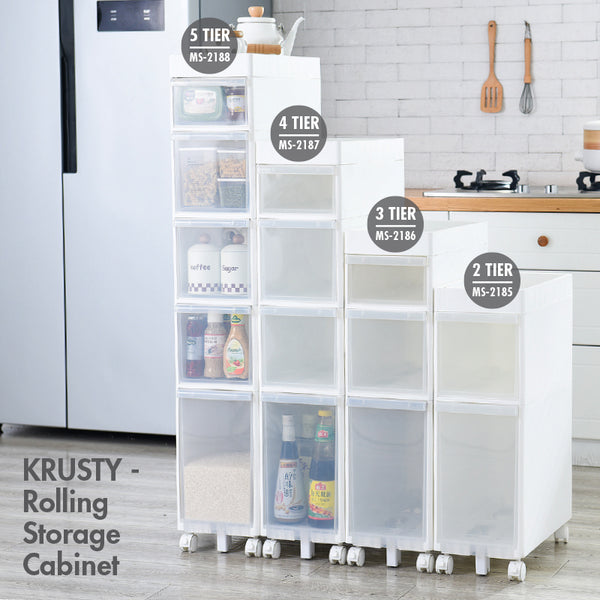 KRUSTY - 4 Tier Rolling Storage Cabinet - HOUZE - The Homeware Superstore