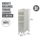 KRUSTY - 3 Tier Rolling Storage Cabinet - HOUZE - The Homeware Superstore