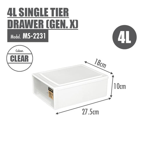 HOUZE 4L Single Tier Drawer (Gen. X) - HOUZE - The Homeware Superstore