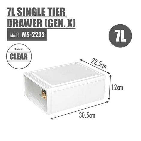 [3 FOR $29.97] HOUZE 7L Single Tier Drawer (Gen. X) (Dim: 30.5x22.5x12cm)