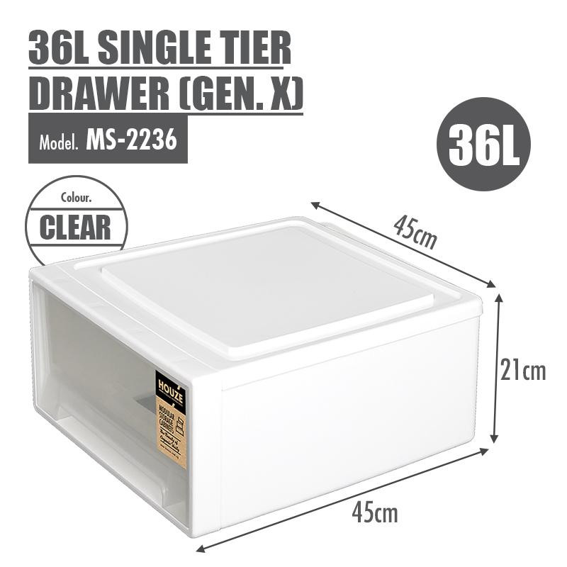 HOUZE 36L Single Tier Drawer (Gen. X) - HOUZE - The Homeware Superstore