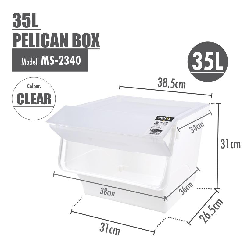 [SET OF 4] HOUZE 35L Pelican Box