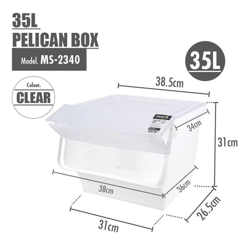 HOUZE 35L Pelican Box (Clear) - HOUZE - The Homeware Superstore