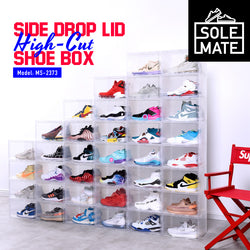SoleMate - Side Drop Lid High-Cut Shoe Box - HOUZE - The Homeware Superstore