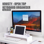 KRUSTY - Open Top Keyboard Organiser (White) - HOUZE - The Homeware Superstore