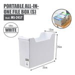 HOUZE - Portable All-In-One File Box (Small) (Dim: 35 x 12 x 24cm) - HOUZE - The Homeware Superstore
