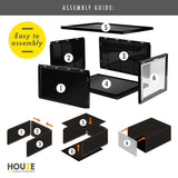 HOUZE - AJ Premium Jumbo Shoe Box (Black) - HOUZE - The Homeware Superstore
