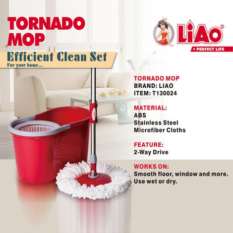 LIAO - Compact Tornado Mop - HOUZE - The Homeware Superstore