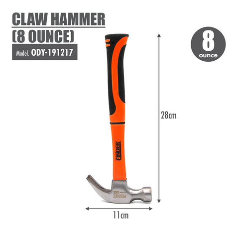 FINDER - Claw Hammer (8 Ounce) - HOUZE - The Homeware Superstore