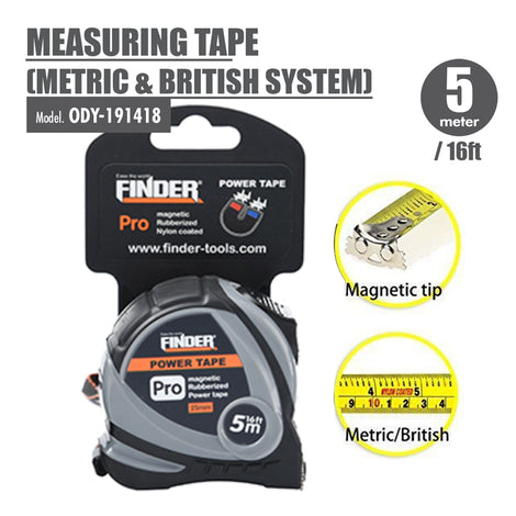 FINDER - Measuring Tape (Metric & British System) (5 Meter) - HOUZE - The Homeware Superstore