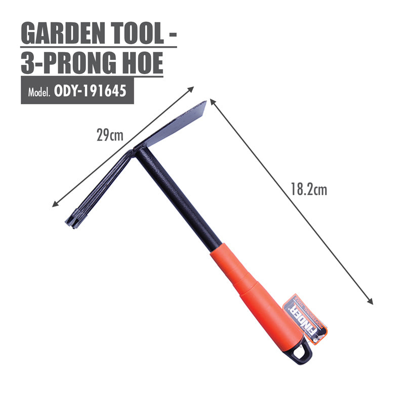 FINDER - Garden Tool - 3-Prong Hoe - HOUZE - The Homeware Superstore