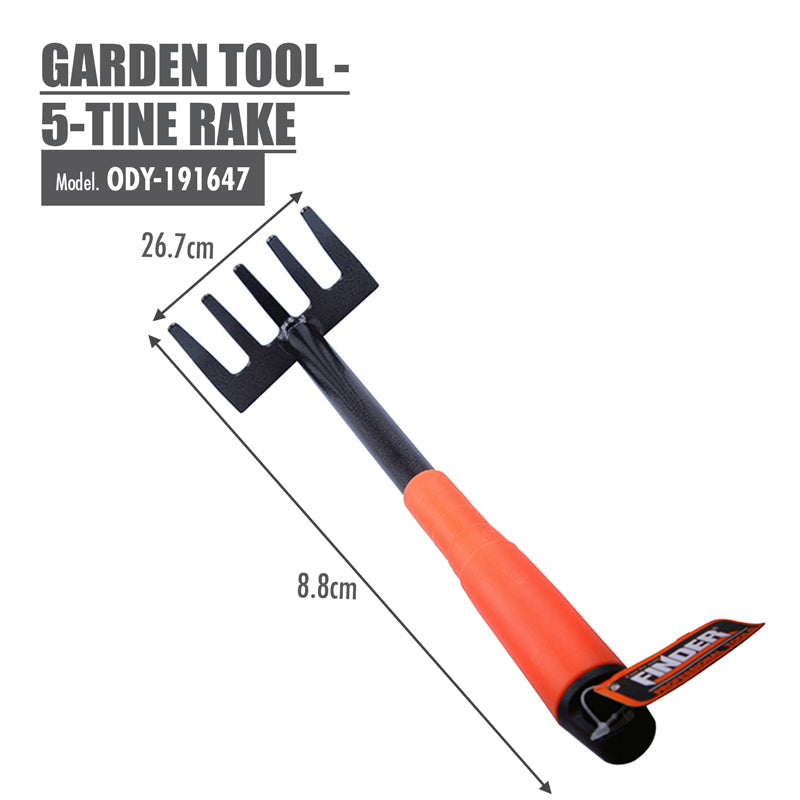 FINDER - Garden Tool - 5-Tine Rake - HOUZE - The Homeware Superstore