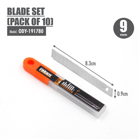 FINDER - Blade Set (Pack of 10) (9mm) - HOUZE - The Homeware Superstore