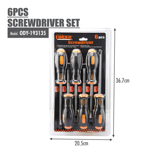 FINDER - 6pcs Screwdriver set - HOUZE - The Homeware Superstore