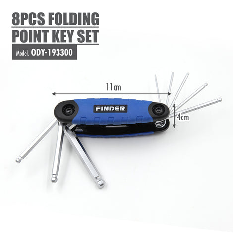 FINDER - 8pcs Folding Ball Point Key set - HOUZE - The Homeware Superstore