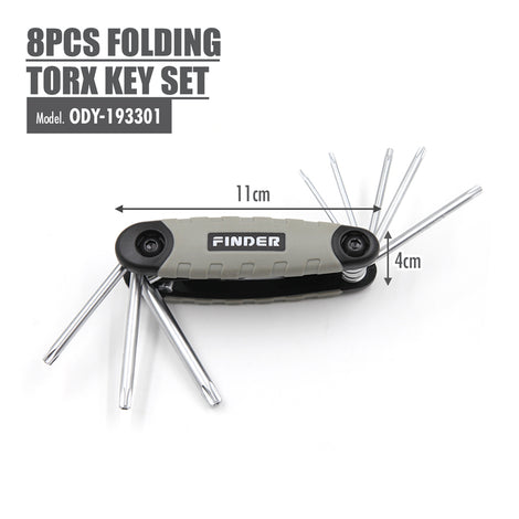 FINDER - 8pcs Folding Torx Key Set - HOUZE - The Homeware Superstore