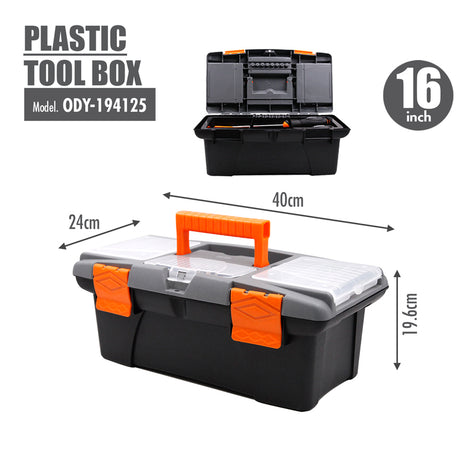 FINDER - Plastic Tool box (16 Inch) - HOUZE - The Homeware Superstore