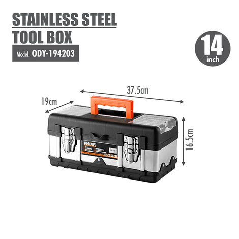 FINDER - Stainless Steel Tool Box (14 Inch) - HOUZE - The Homeware Superstore