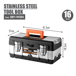 FINDER - Stainless Steel Tool Box (16 Inch) - HOUZE - The Homeware Superstore