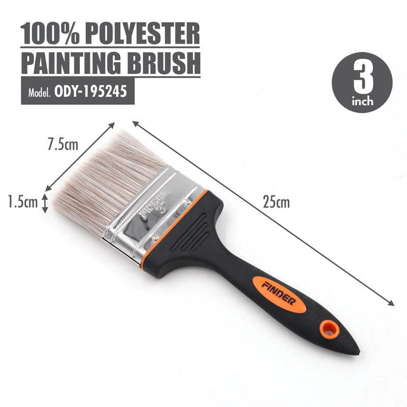FINDER - 100% Polyester Painting Brush (3 Inch) - HOUZE - The Homeware Superstore