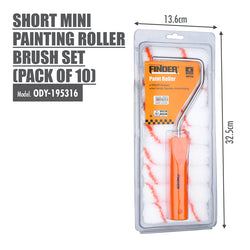 FINDER - Short Mini Painting Roller Brush Set (Pack of 10) - HOUZE - The Homeware Superstore