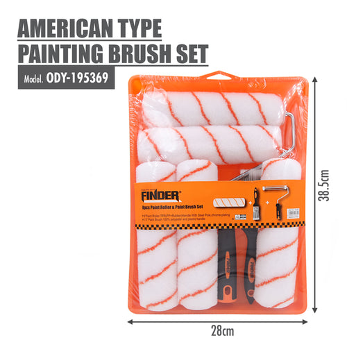 FINDER - American Type Painting Brush Set (Pack of 8) - HOUZE - The Homeware Superstore