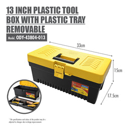 13 Inch Plastic Tool Box with Plastic Tray Removable - HOUZE - The Homeware Superstore