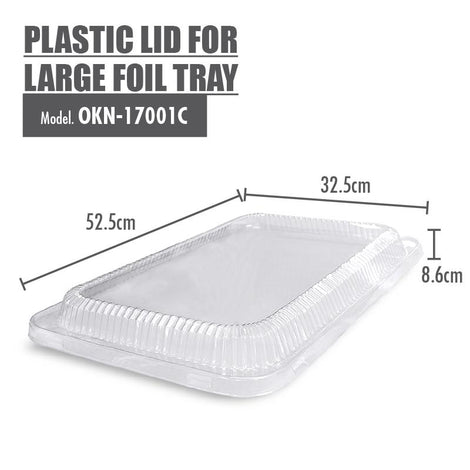 Plastic Lid for Large Foil Tray - 525x325x86mm