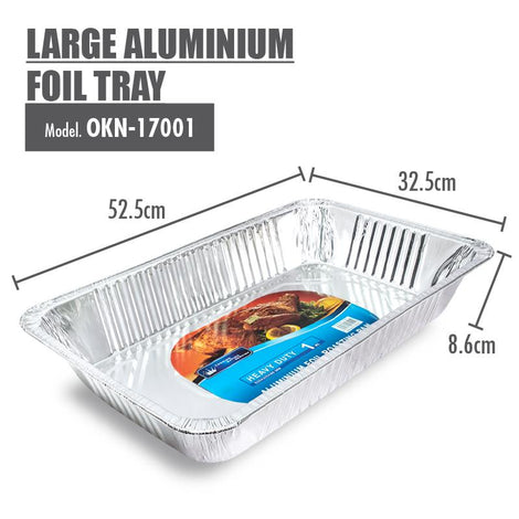 Large Aluminium Foil Tray - 525x325x86mm - HOUZE - The Homeware Superstore